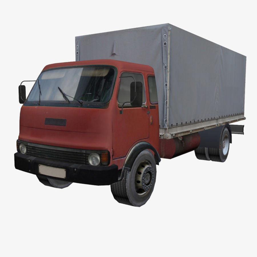 Truck Red royalty-free 3d model - Preview no. 1