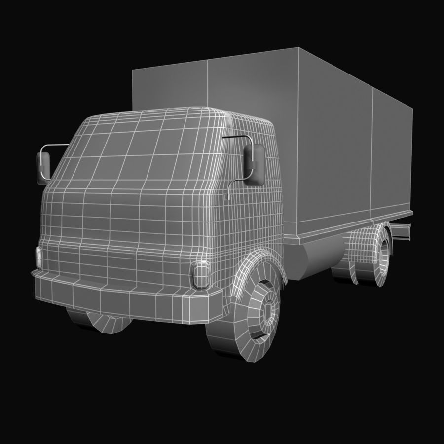 Truck Red royalty-free 3d model - Preview no. 6