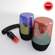 2 Gyrophares Cigar Lighter 3d model