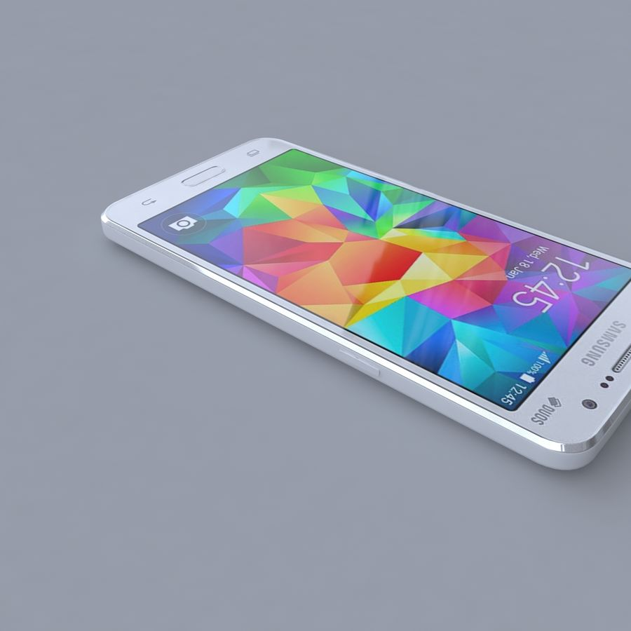 Samsung Galaxy Grand Prime royalty-free 3d model - Preview no. 3