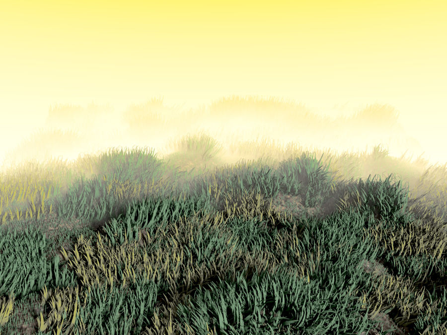 Grass Clumps Pack royalty-free 3d model - Preview no. 1