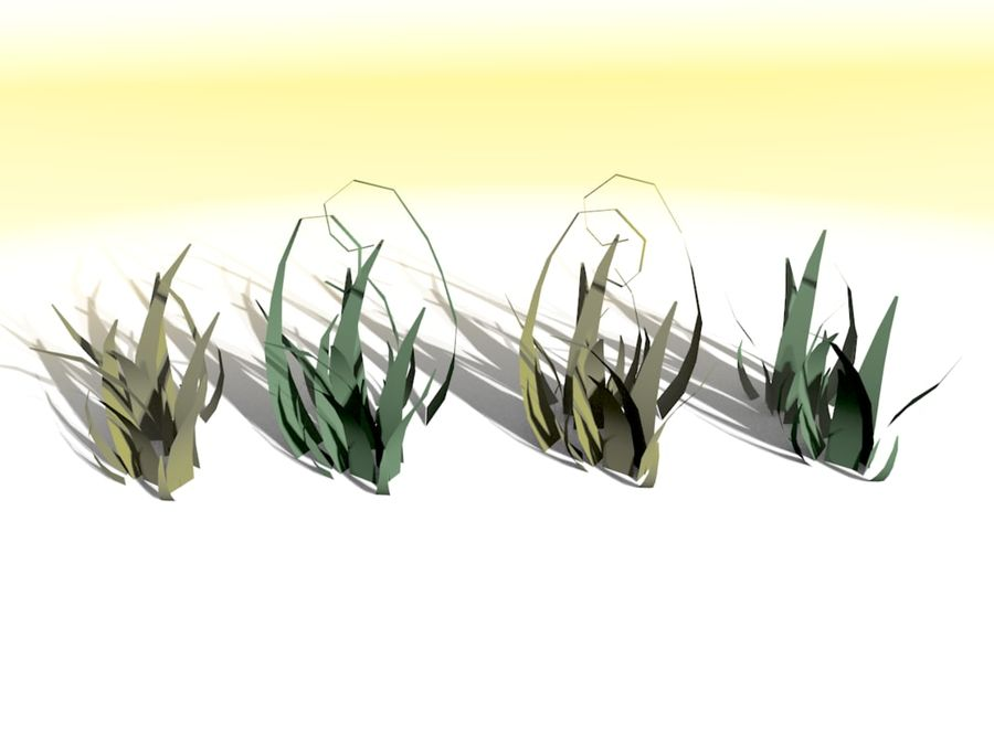 Grass Clumps Pack royalty-free 3d model - Preview no. 3