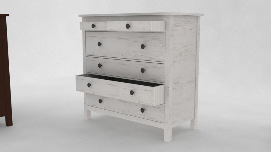 IKEA HEMNES 6 drawer chest royalty-free 3d model - Preview no. 1