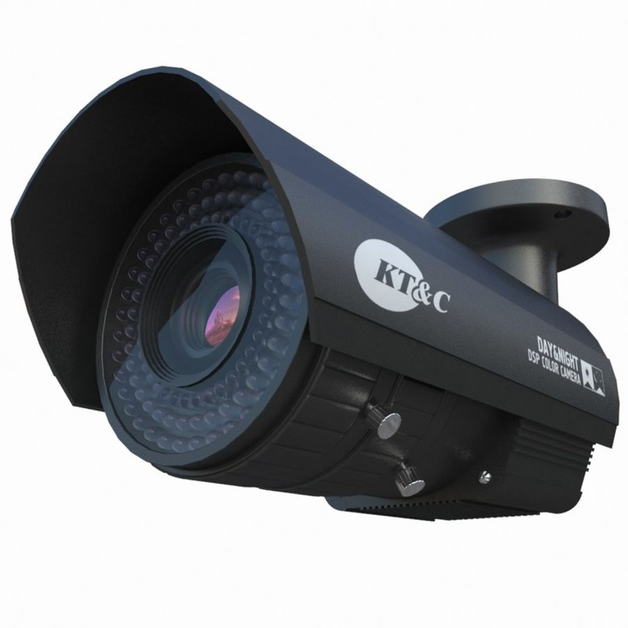 indoor CCTV camera royalty-free 3d model - Preview no. 1