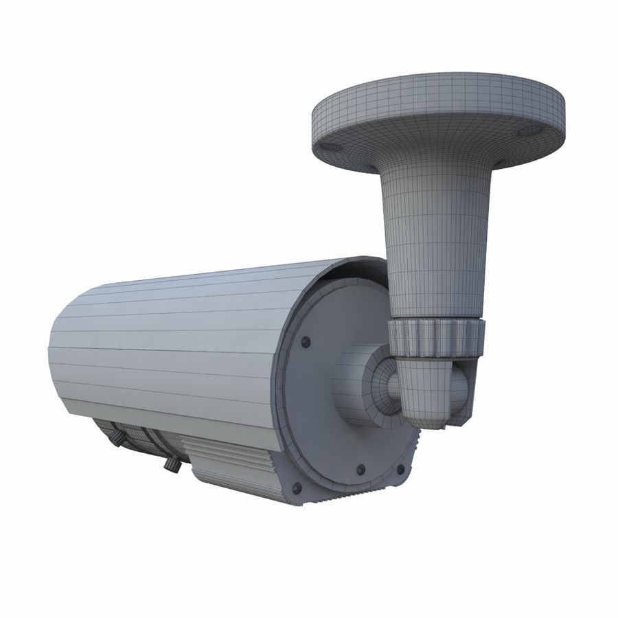 indoor CCTV camera royalty-free 3d model - Preview no. 8