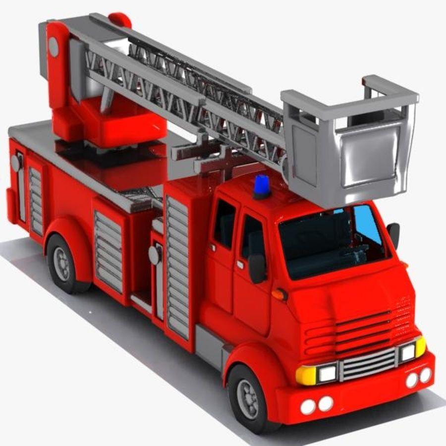 Camión De Bomberos De Dibujos Animados 2 Modelo 3d 19