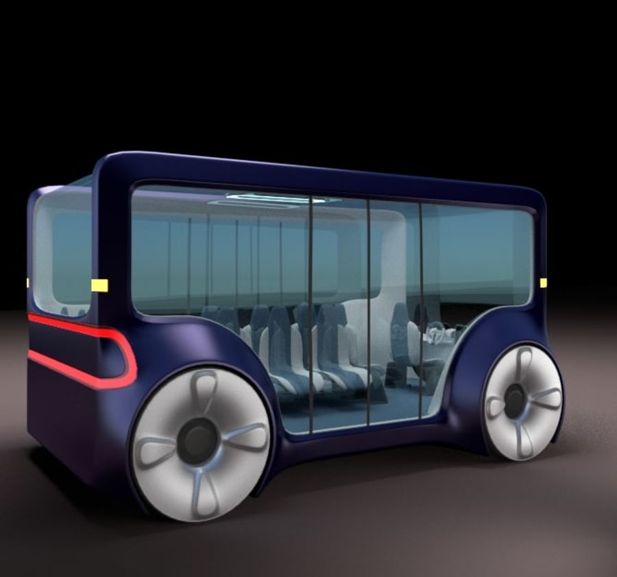 Mini bus(concept styled) 1 royalty-free 3d model - Preview no. 4