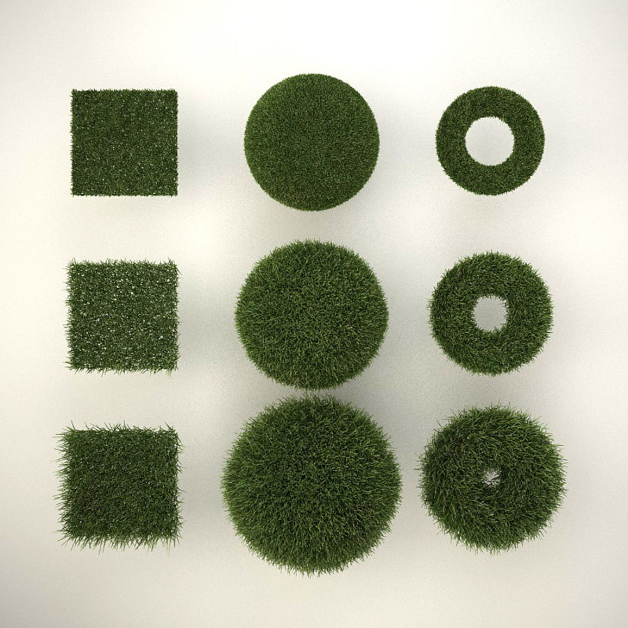C4D realistic grass royalty-free 3d model - Preview no. 2