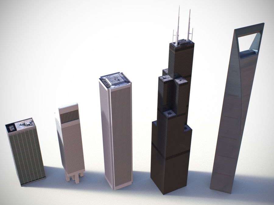 Buildings vol_2 royalty-free 3d model - Preview no. 3