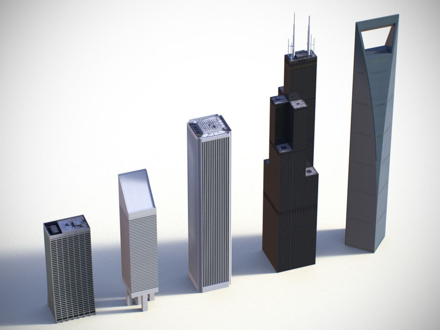 Buildings vol_2 royalty-free 3d model - Preview no. 1