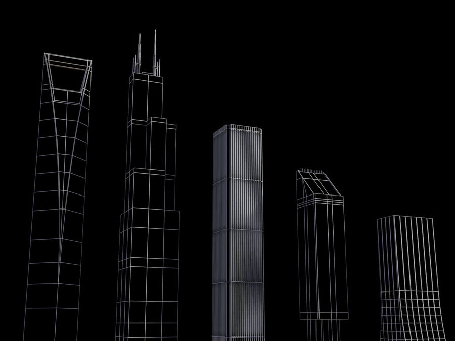Buildings vol_2 royalty-free 3d model - Preview no. 5