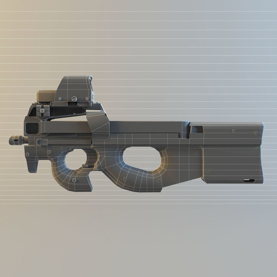 FN P90 royalty-free 3d model - Preview no. 8