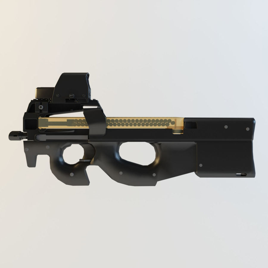 FN P90 royalty-free 3d model - Preview no. 7