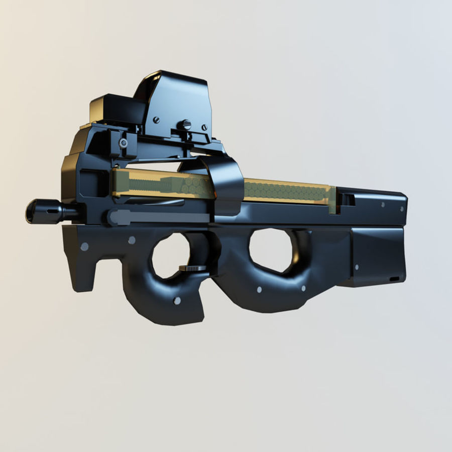 FN P90 royalty-free 3d model - Preview no. 3