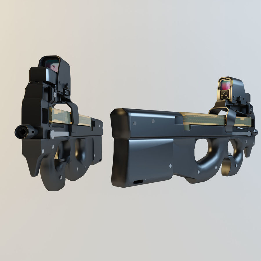 FN P90 royalty-free 3d model - Preview no. 5
