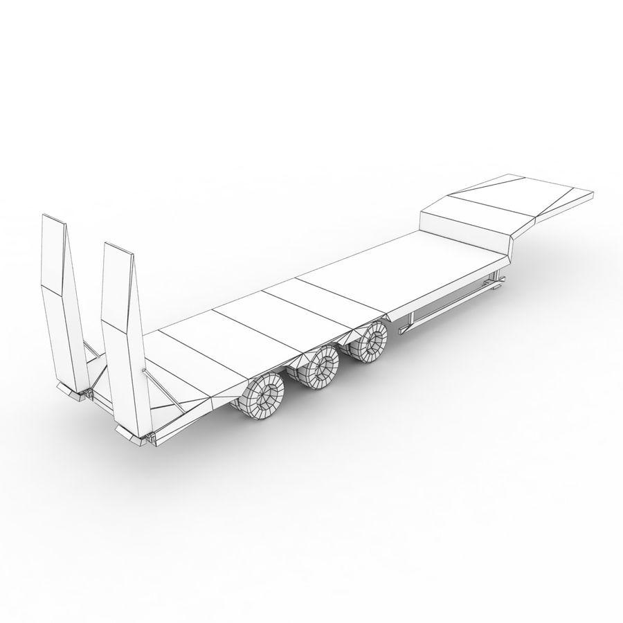 Semitrailer Low Loader royalty-free 3d model - Preview no. 10