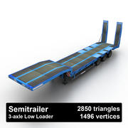 Semitrailer Low Loader 3d model