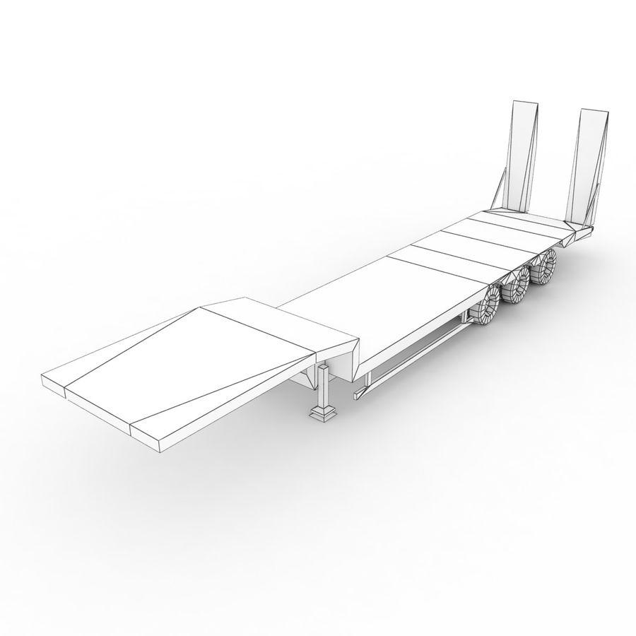 Semitrailer Low Loader royalty-free 3d model - Preview no. 9