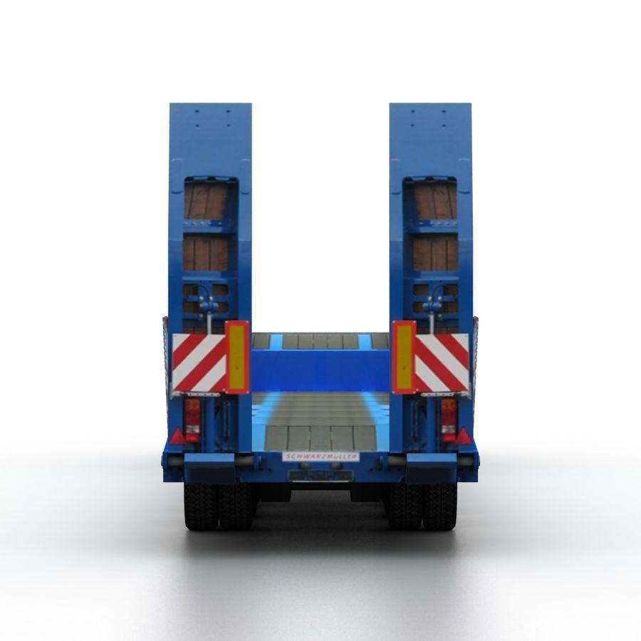 Semitrailer Low Loader royalty-free 3d model - Preview no. 5