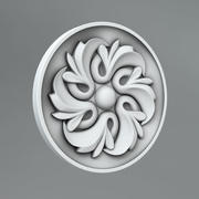 Carved rosettes 35 3d model