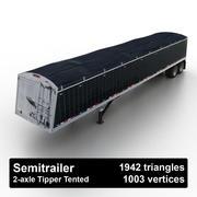 Semitrailer Tipper Tented 3d model