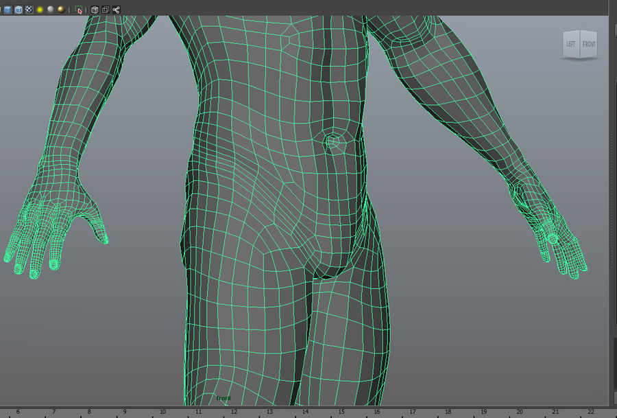 Malha de Base Masculina Humana royalty-free 3d model - Preview no. 13