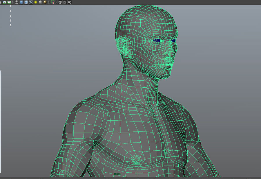 Malha de Base Masculina Humana royalty-free 3d model - Preview no. 12
