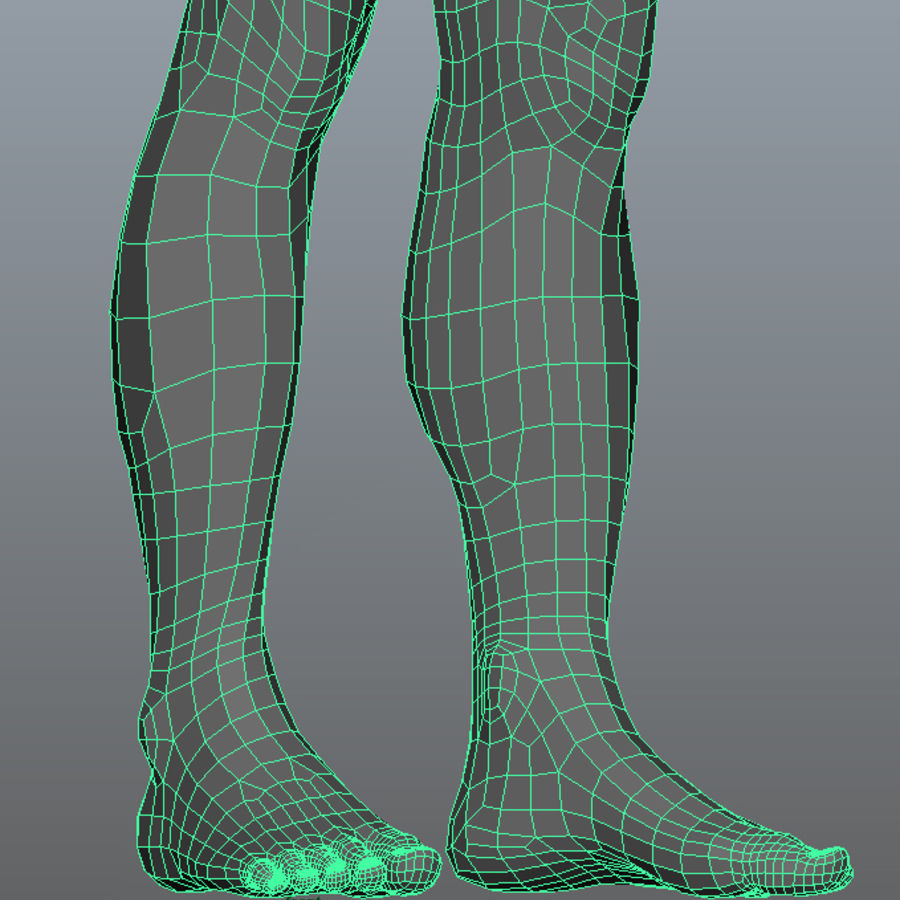 Human Male Base Mesh royalty-free 3d model - Preview no. 15