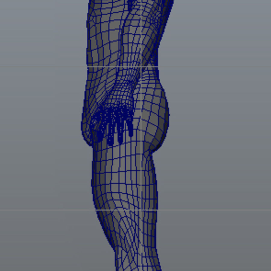 Malha de Base Masculina Humana royalty-free 3d model - Preview no. 23