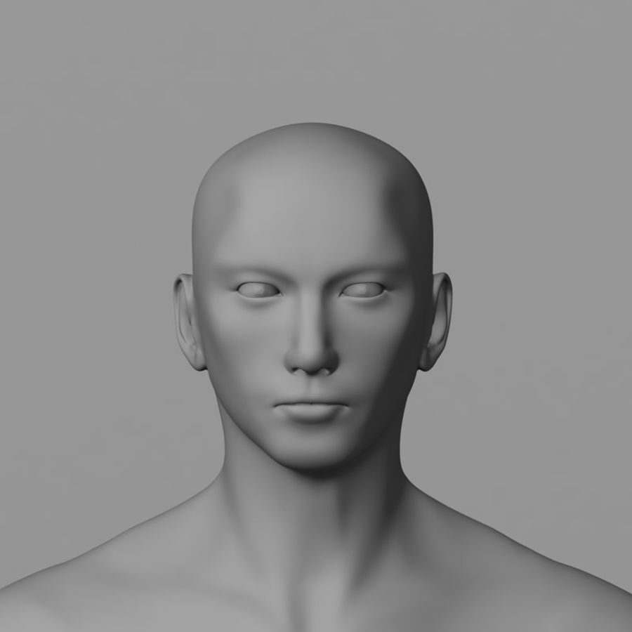Human Male Base Mesh royalty-free 3d model - Preview no. 5