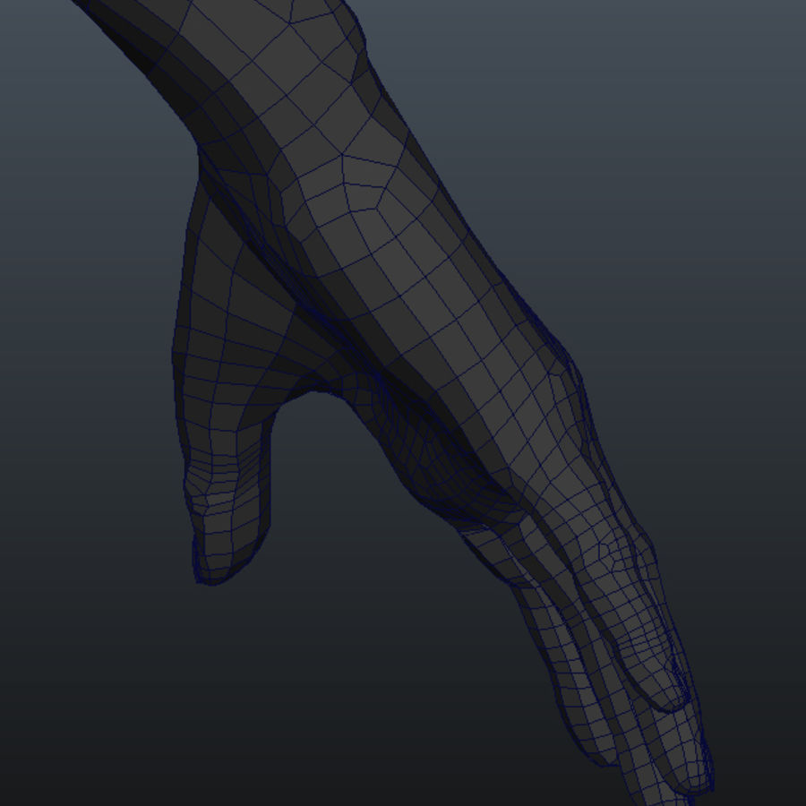 Human Male Base Mesh royalty-free 3d model - Preview no. 21