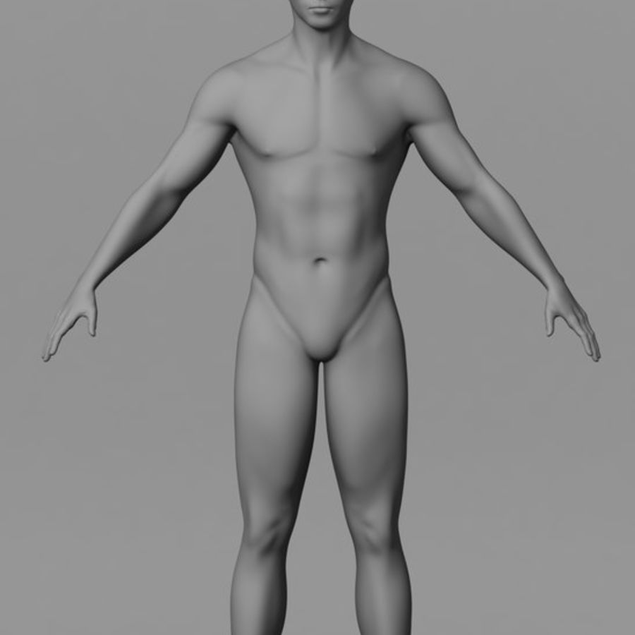 Malha de Base Masculina Humana royalty-free 3d model - Preview no. 1