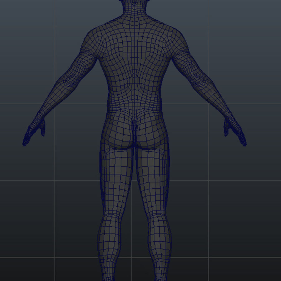 Malha de Base Masculina Humana royalty-free 3d model - Preview no. 22