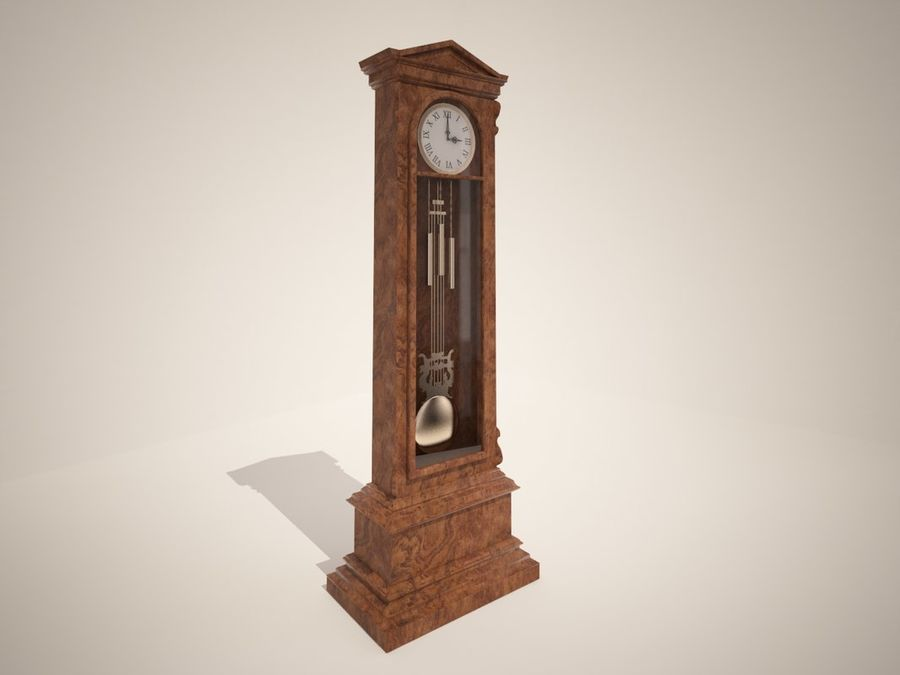 High detailed granfather clock royalty-free 3d model - Preview no. 1