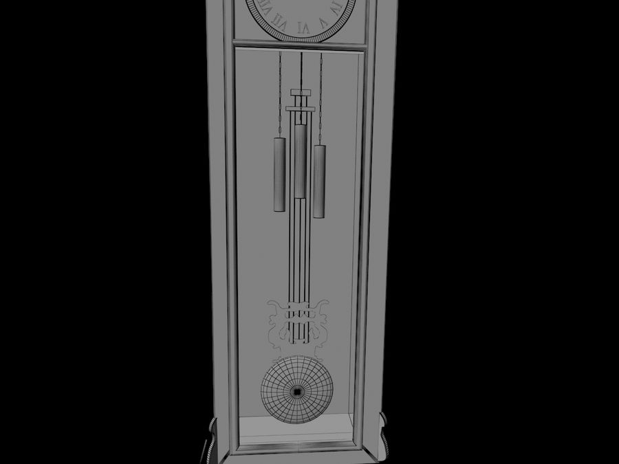 High detailed granfather clock royalty-free 3d model - Preview no. 9