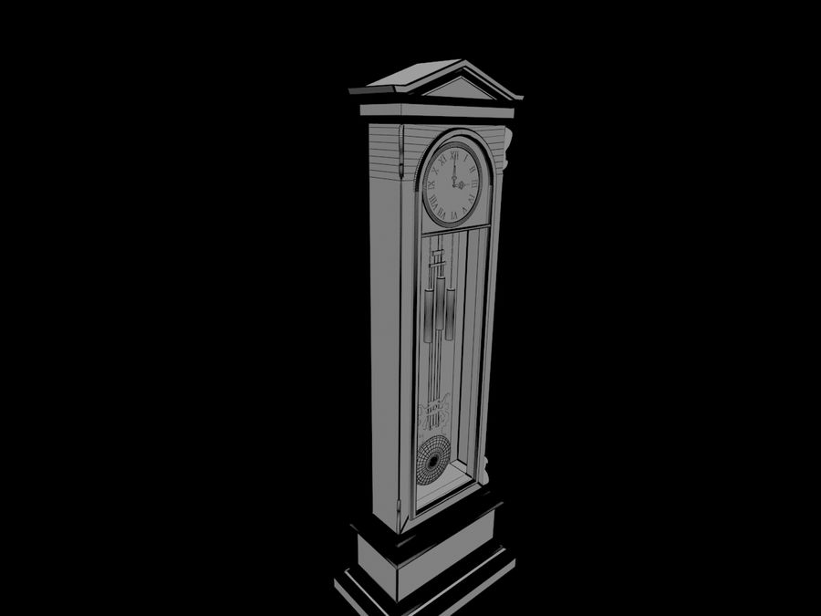 High detailed granfather clock royalty-free 3d model - Preview no. 6
