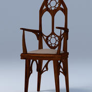 Gothic chair 3d model