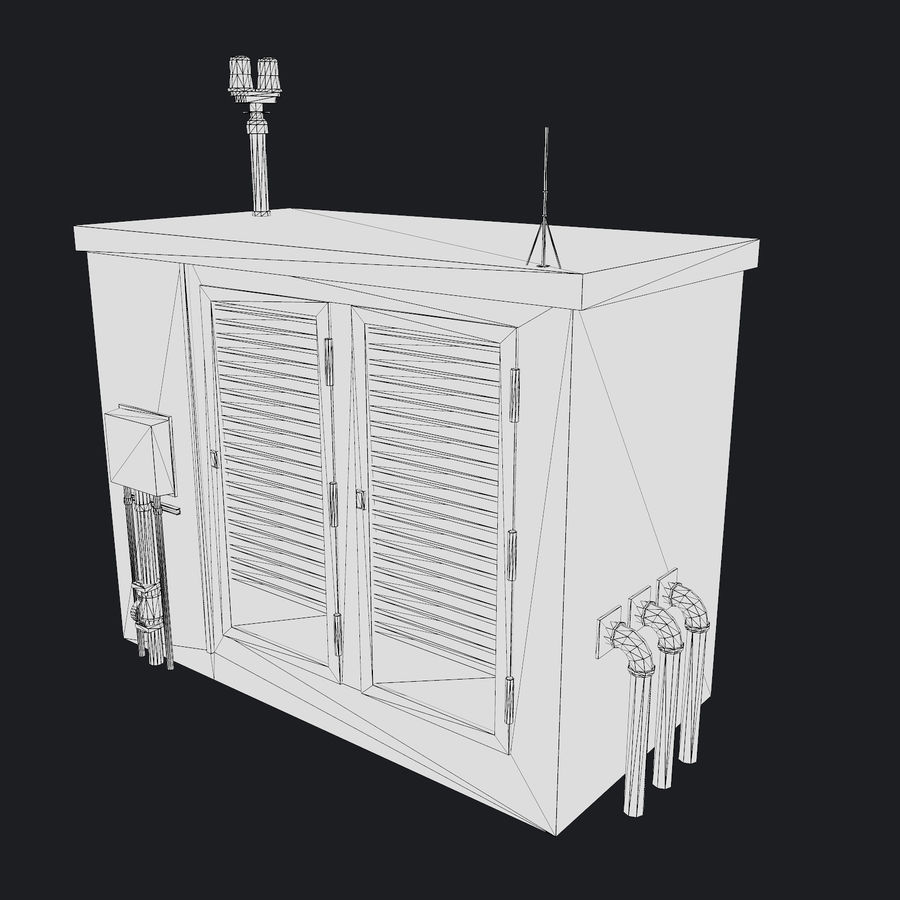Electronics Shelter 01 royalty-free 3d model - Preview no. 10