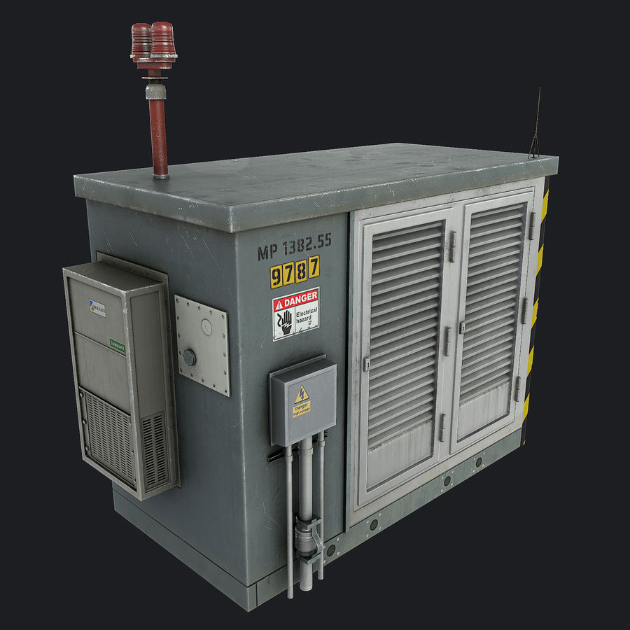Electronics Shelter 01 royalty-free 3d model - Preview no. 3