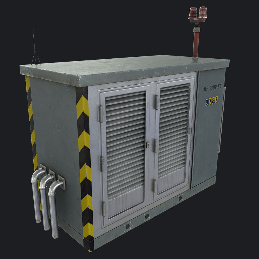 Electronics Shelter 01 royalty-free 3d model - Preview no. 6