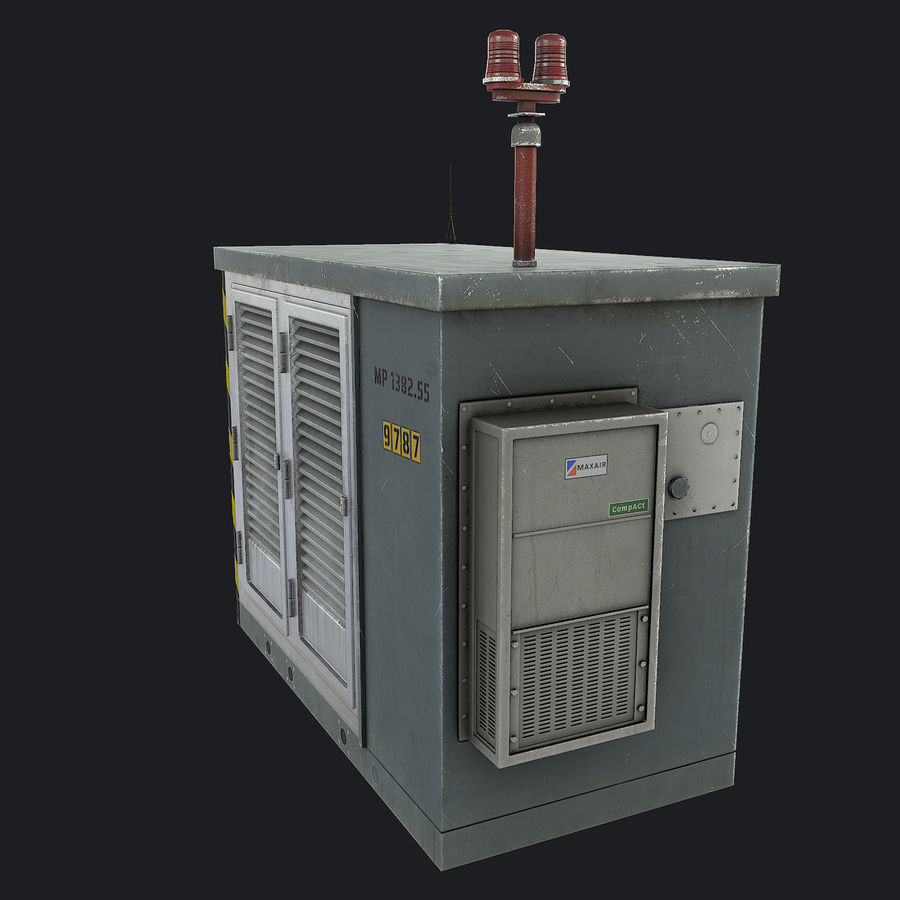 Electronics Shelter 01 royalty-free 3d model - Preview no. 8