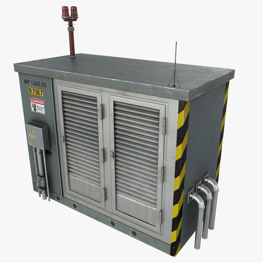 Electronics Shelter 01 royalty-free 3d model - Preview no. 1