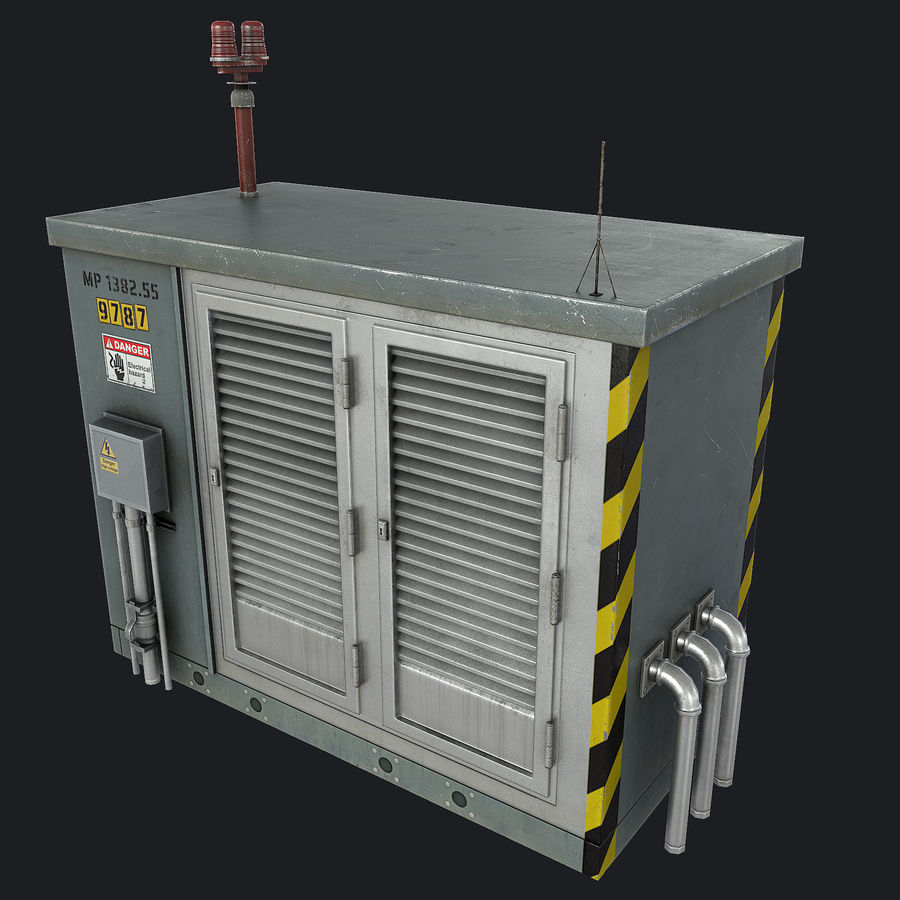 Electronics Shelter 01 royalty-free 3d model - Preview no. 2