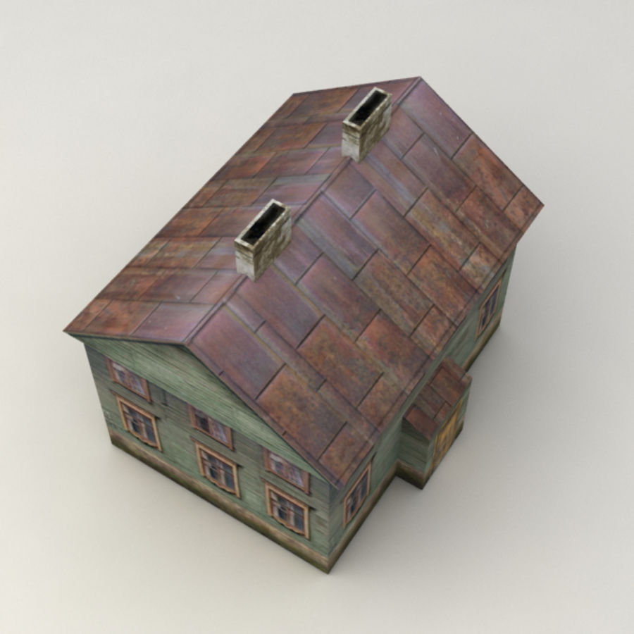 Rural house royalty-free 3d model - Preview no. 3