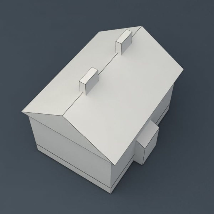 Rural house royalty-free 3d model - Preview no. 4