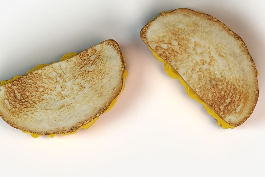 Old-Fashioned Grilled Cheese royalty-free 3d model - Preview no. 4