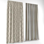 Curtains a modern style(1) 3d model