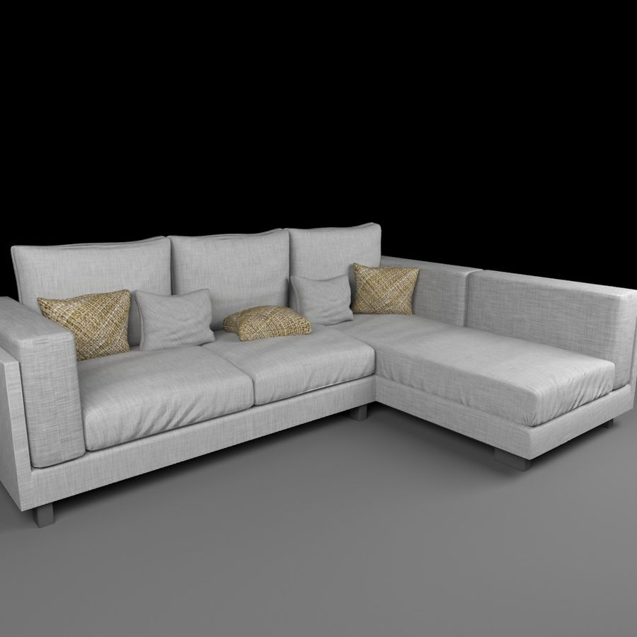 soffa royalty-free 3d model - Preview no. 6