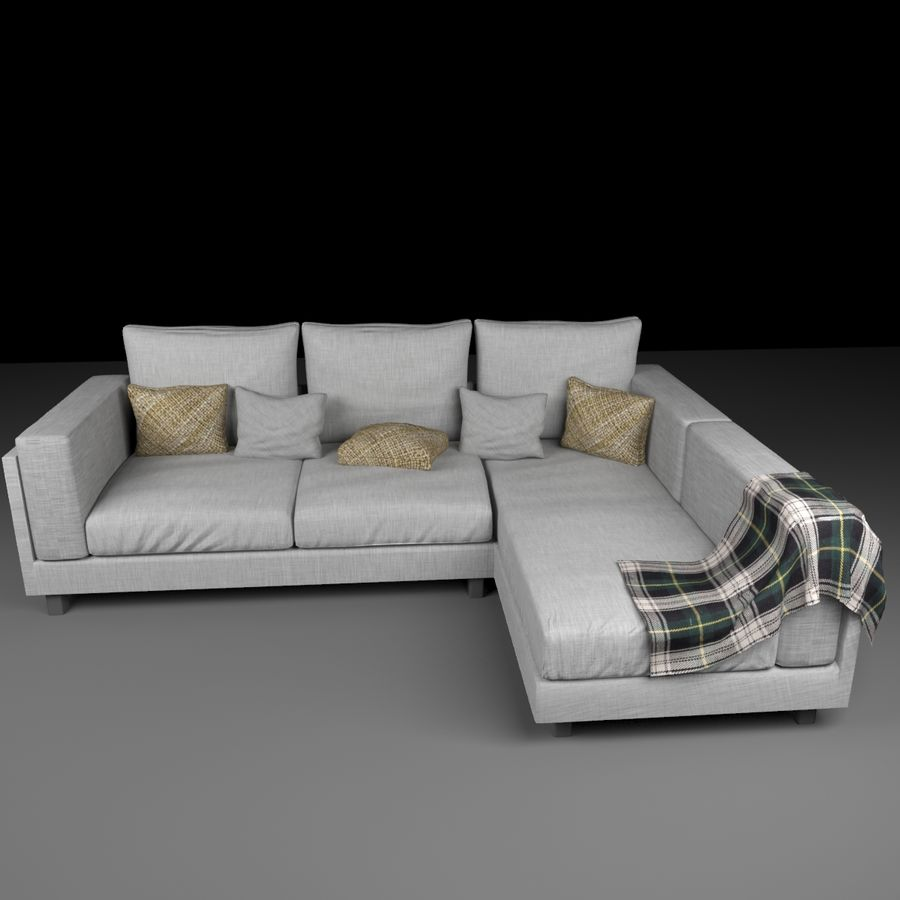 soffa royalty-free 3d model - Preview no. 3