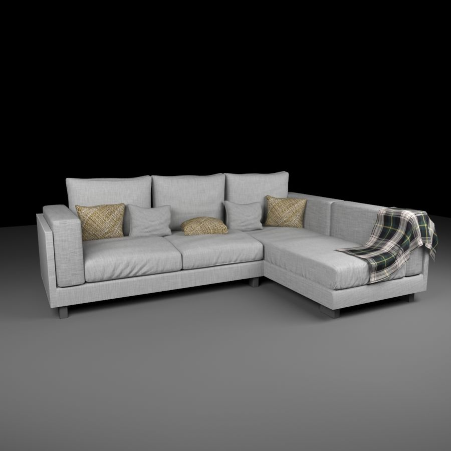 soffa royalty-free 3d model - Preview no. 7